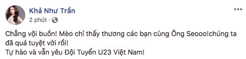 Sao Việt tiếc nuối, động viên khi Olympic Việt Nam trượt huy chương đồng tại ASIAD 2018 - Tin sao Viet - Tin tuc sao Viet - Scandal sao Viet - Tin tuc cua Sao - Tin cua Sao
