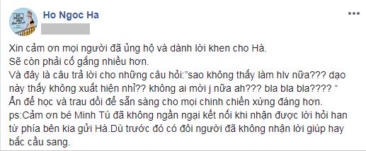Hồ Ngọc Hà chia sẻ trên trang cá nhân. - Tin sao Viet - Tin tuc sao Viet - Scandal sao Viet - Tin tuc cua Sao - Tin cua Sao