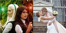 Mê mẩn ngắm nhìn bộ ảnh cưới kiểu cosplay của cặp đôi đồng tính nữ