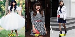 10 năm qua thời trang của hot girl Việt đã thay đổi thế nào?