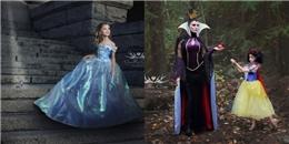 'Phát thèm' với bộ ảnh công chúa Disney của mẹ và con gái 7 tuổi