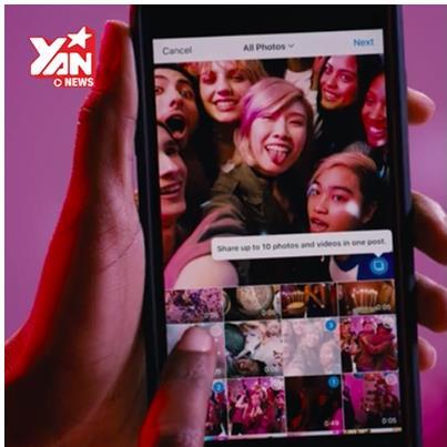 """Tha hồ """"sống ảo"""" vì Instagram đã cho đăng nhiều ảnh cùng lúc"""
