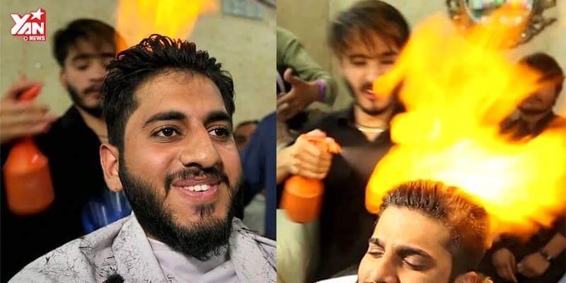 Hết hồn với cách cắt tóc với lửa cực độc đáo