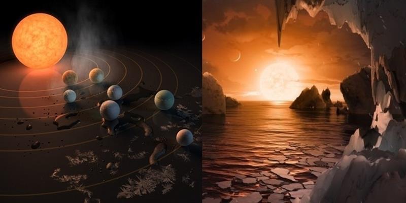 """Phát hiện 7 hành tinh """"anh em"""" của Trái đất có dấu hiệu của sự sống"""