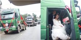 """Màn rước dâu bằng xe tải đầu kéo của cặp đôi Yên Bái gây """"bão mạng"""""""