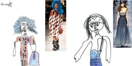 'Té ghế' màn 'cover' các mẫu thiết kế Thu Đông 2017 từ cô bé 6 tuổi