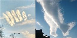 Sững sờ trước bàn tay và bàn chân mây xuất hiện trên bầu trời