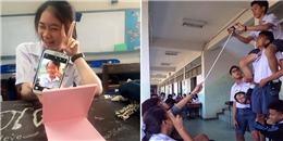 Bó tay với những chiêu chụp ảnh độc lạ 'cộp mác' tuổi học trò