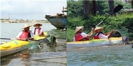 Độc đáo tour 'du lịch dọn rác' trên sông ở Hội An thu hút du khách