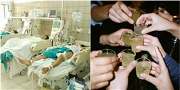 7 sinh viên nôn ra máu, phải thở máy vì nhậu từ trưa đến đêm