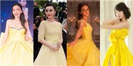 yan.vn - tin sao, ngôi sao - Đọ sắc mỹ nhân Hoa ngữ khi diện váy vàng tha thướt như nàng Belle