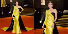 Hoa hậu Thu Hoài rực rỡ trên thảm đỏ tại Malaysia