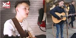 Cậu bé 15 tuổi biểu diễn đường phố với giọng hát quá sức đẳng cấp