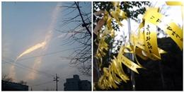 Điều kì diệu trên bầu trời Hàn Quốc xảy ra đúng lúc trục vớt phà Sewol