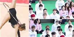 """Cận cảnh vẻ đẹp """"á ố"""" của idol Kpop khi xem màn thể dục dụng cụ đỉnh"""