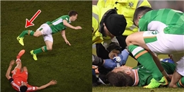 Hậu vệ Everton gãy chân sau pha tắc bóng kinh hoàng