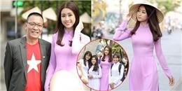 Sinh viên, học sinh vây kín Hoa hậu Mỹ Linh tại phố đi bộ