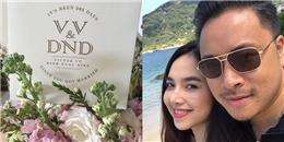 Vợ chồng Đinh Ngọc Diệp ngọt ngào kỷ niệm một năm ngày cưới