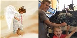 Sức mạnh thiên thần, cậu bé 8 tuổi cứu bố bị xe tải đè lên người