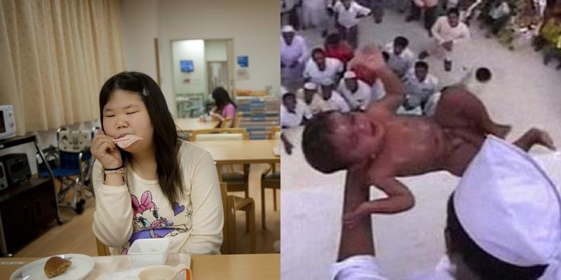 """Văn hóa """"bí ẩn"""" của châu Á: mập là vi phạm, quăng trẻ để cầu may"""
