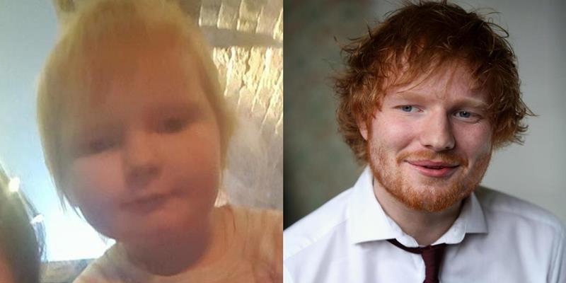 """yan.vn - tin sao, ngôi sao - Choáng: Bé gái 2 tuổi giống y hệt Ed Sheeran như… """"con gái thất lạc"""""""