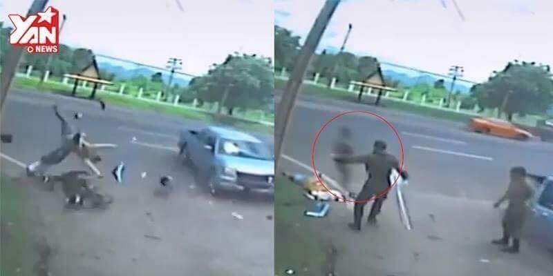 Phát hoảng với chiếc bóng xuất hiện sau tai nạn giao thông