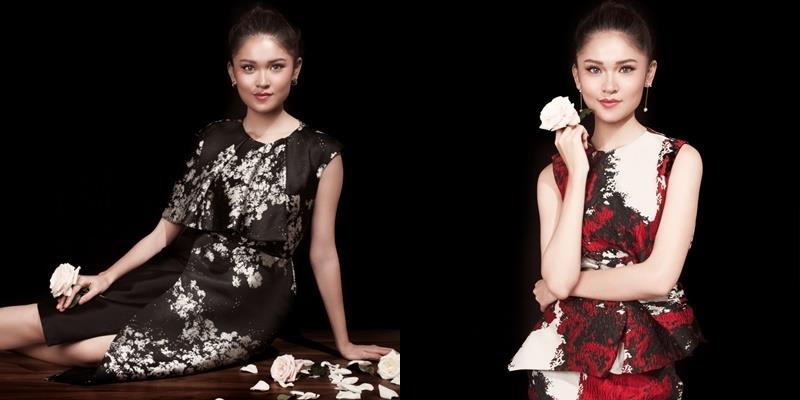 Á hậu Thùy Dung khoe vóc dáng mảnh mai với váy áo họa tiết