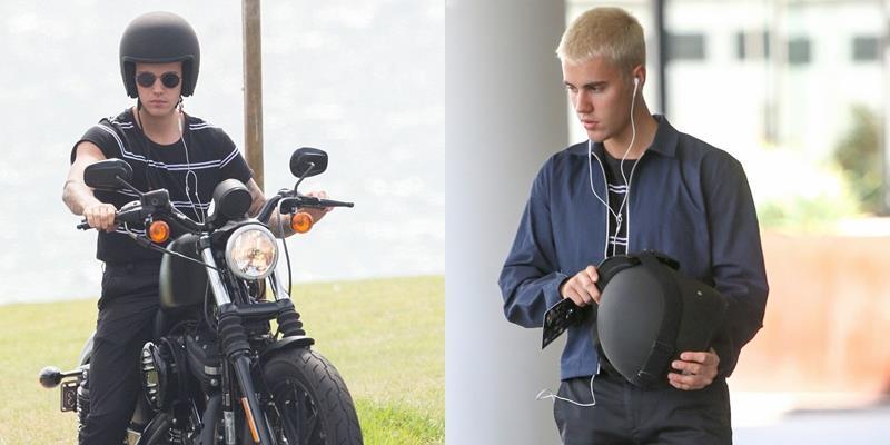 Justin Bieber khiến fan lác mắt vì lái mô tô phân khối lớn như soái ca