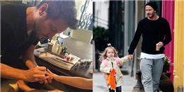 Công chúa nhà Beck- Vic đáng yêu khó cưỡng khi cùng bố đi làm đẹp