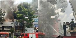 Cháy lớn tại salon tóc quận 10, nhiều người tháo chạy tán loạn