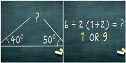 5 bài toán thử sức xem bạn liệu có thông minh hơn học sinh tiểu học?