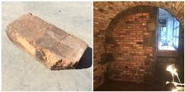 Vô tình làm rơi một viên gạch khi xây dựng, phát hiện bí ẩn thú vị