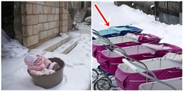 Bất ngờ lí do những đứa trẻ này bị bỏ mặc giữa trời tuyết