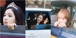 """yan.vn - tin sao, ngôi sao - Muôn kiểu biểu cảm """"yêu hết cỡ"""" của sao Hàn sau khung cửa sổ xe hơi"""