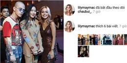 Hot girl số 1 Instagram Lily Maymac bất ngờ theo dõi Châu Bùi