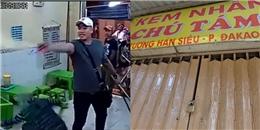 Chủ quán kem Chú Tám bị giang hồ đập phá chưa dám mở cửa bán lại