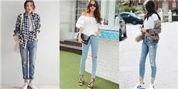 Mix đồ cùng quần jeans rách cực 'chất' cho mùa hè năng động