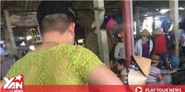 Xúc động lí do ông bố trẻ mặc áo ren nõn chuối nổi bần bật giữa chợ