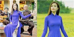 Hoa hậu Đỗ Mỹ Linh ngọt ngào với áo dài tím mộng mơ