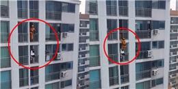 """Cận cảnh những """"cú song phi"""" dứt khoát cứu người tự tử trên tòa cao ốc"""