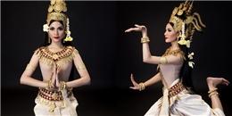 Trương Thị May diện trang phục truyền thống mừng Tết Khmer