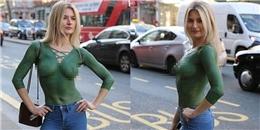 Ai cũng nóng mắt với cô nàng liều lĩnh để ngực trần dạo phố