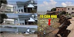 """Clip tổng hợp vụ """"hà bá"""" nhấn chìm 19 căn nhà xuống dòng sông Hậu"""