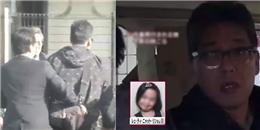 Clip áp giải nghi phạm vứt xác bé gái người Việt tại Nhật về đồn