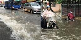 TP.HCM: Mưa dông kéo dài, nhiều tuyến phố ngập sâu trong nước