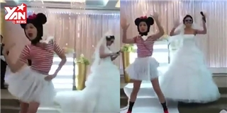 """Phấn khích trước cô bạn thân của cô dâu """"quẩy banh nóc"""" tại đám cưới"""