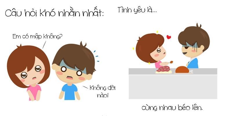 """Bộ tranh """"Tình yêu là..."""" cute vô đối khiến bạn muốn yêu ngay và luôn"""