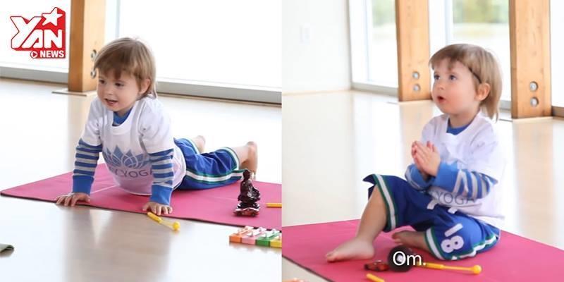 """""""Thầy giáo"""" Yoga 2 tuổi đốn tim cư dân mạng"""