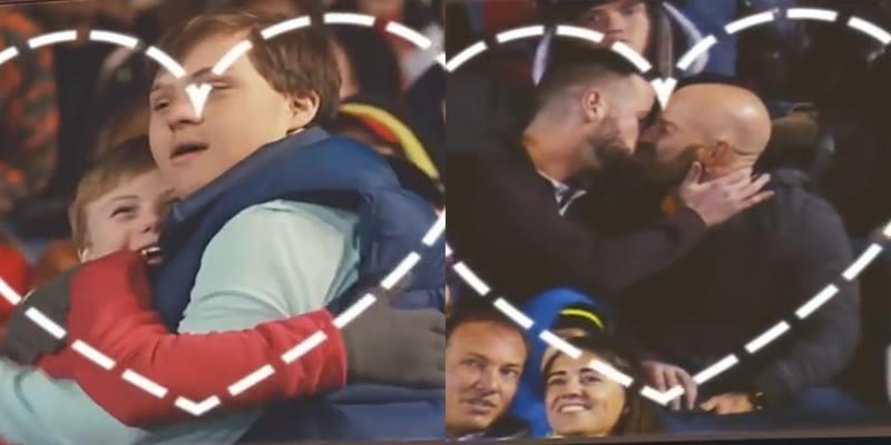 """Màn """"Kiss Cam"""" lãng mạn và thông điệp ý nghĩa"""