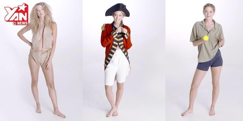Siêu hấp dẫn với lịch sử quần lót nam do người mẫu nữ trình diễn